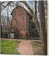 Wood's Grist Mill In Hobart Indiana Wood Print by Paul Velgos