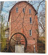 Wood's Grist Mill In Northwest Indiana Wood Print by Paul Velgos