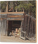 Woodshed On The Holzwarth Historic Site Wood Print