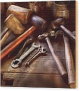 Woodworker - A Collection Of Hammers  Wood Print