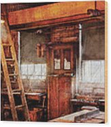 Woodworker - Old Workshop Wood Print