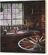 Woodworker - The Wheelwright Shop  Wood Print