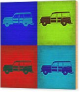 Woody Wagon Pop Art 1 Wood Print
