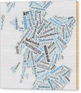 Wordcloud Of Scotland Wood Print