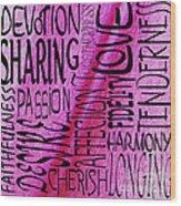 Words Of Love 3 Wood Print