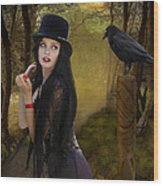 Words Of The Crow Wood Print