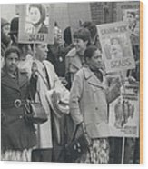 Workers At The Grunwick Laboratories Offered Council Houses Wood Print
