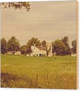 Working Barns And Landscape Wood Print