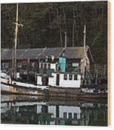 Working Boat Wood Print by Bill Gallagher