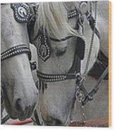 Working Horses Wood Print