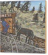 The Coal Mine Wood Print