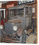 Working On The Old Ford Model T 5d25570 Wood Print