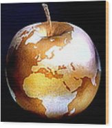 World Apple Wood Print