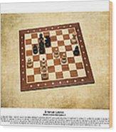 World Chess Champions - Emanuel Lasker - 1 Wood Print
