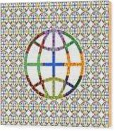 World Globe Earth Travel Graphic Digital Colorful Pattern Signature Art  Navinjoshi Artist Created I Wood Print