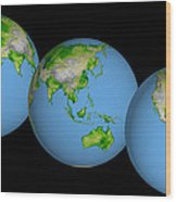 World Globes Wood Print