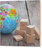 World Import And Export Wood Print
