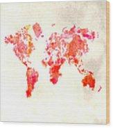 World Map 1h Wood Print