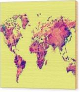 World Map 1t Wood Print