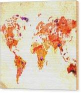 World Map 2d Wood Print