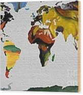 Franz Marc 4 World Map Wood Print