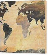 World Map   Turner 1 Wood Print