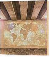 World Map Wood Print