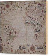 World Nautical Chart 1633 Wood Print