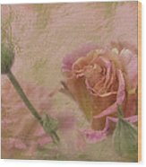World Peace Roses With Texture Wood Print