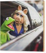 World Premiere Of Disneys Muppets Most Wood Print