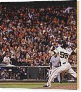 World Series - Detroit Tigers V San Wood Print