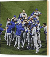 World Series - Kansas City Royals V New Wood Print