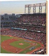 World Series - Kansas City Royals V San Wood Print