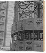World Time Clock Berlin Wood Print