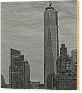World Trade Center Construction Wood Print