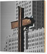 World Trade Center Cross New York Wood Print