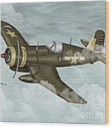 World War 2 Airplane Wood Print