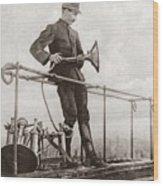 World War I Air Raid Siren Wood Print