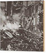 World War I Paris Bombed Wood Print