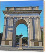 World War I Victory Arch Newport News Wood Print