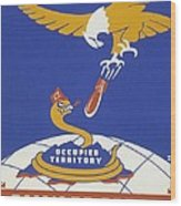 World War II 1939-1945 Anti Japanese Poster Sponsored By The Thirteenth Naval District Wood Print by Anonymous
