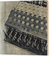 World War II Enigma Secret Code Machine Wood Print