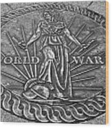 World War II Medallion Bw Wood Print