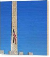 World War II Memorial And Washington Monument Wood Print