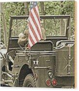 World War II Vet Wood Print by Andrea Dale