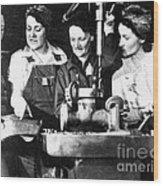 World War II Workers Wood Print