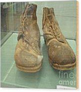 World War One Boots Wood Print