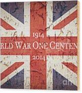 World War One Centenary Union Jack Wood Print by Jane Rix