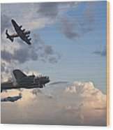World War Two British Vintage Flight Formation Wood Print by Matthew Gibson