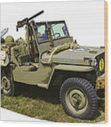 World War Two - Willys - Army Jeep  Wood Print